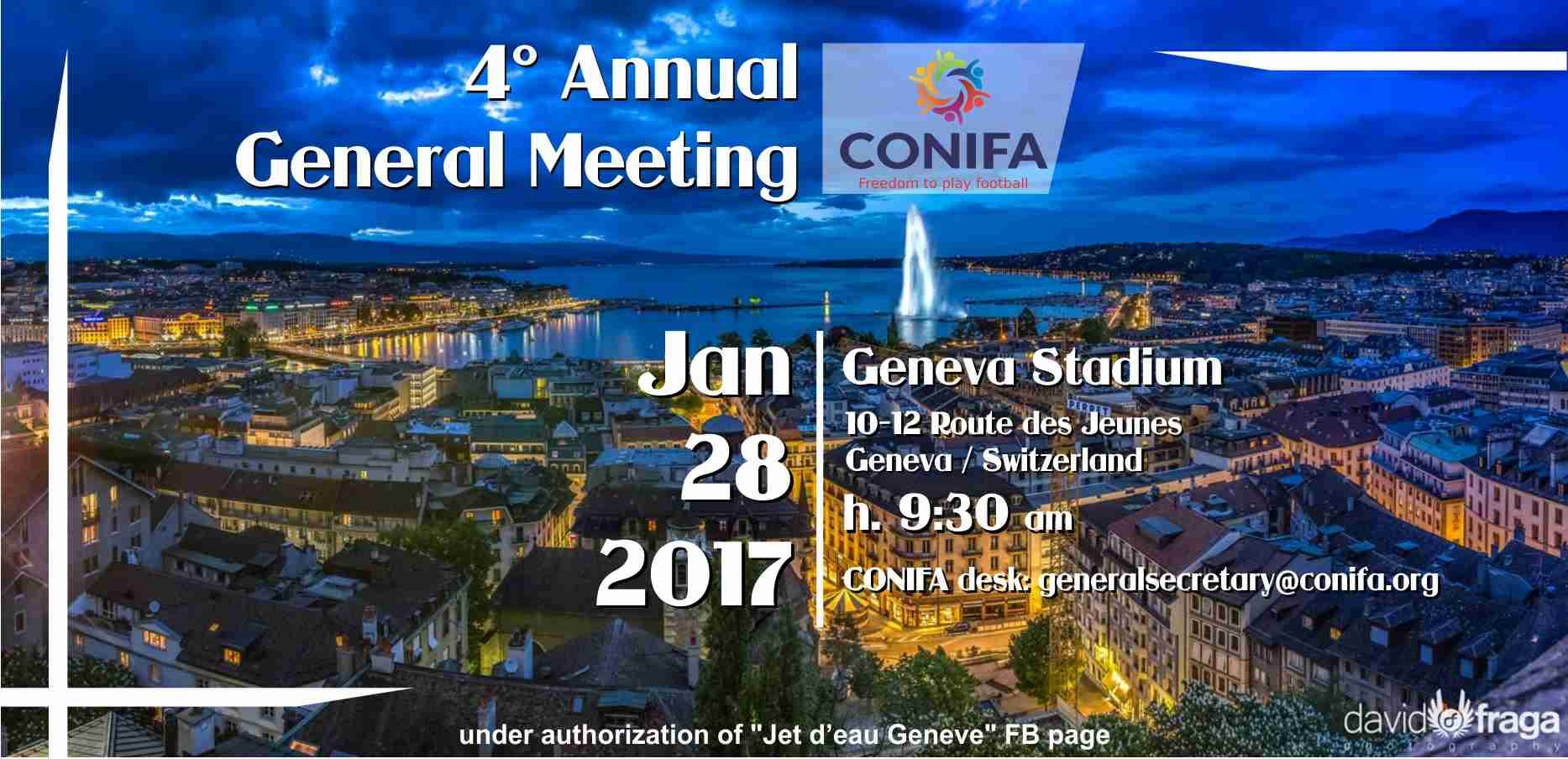 ConIFA announce the next AGM 2017