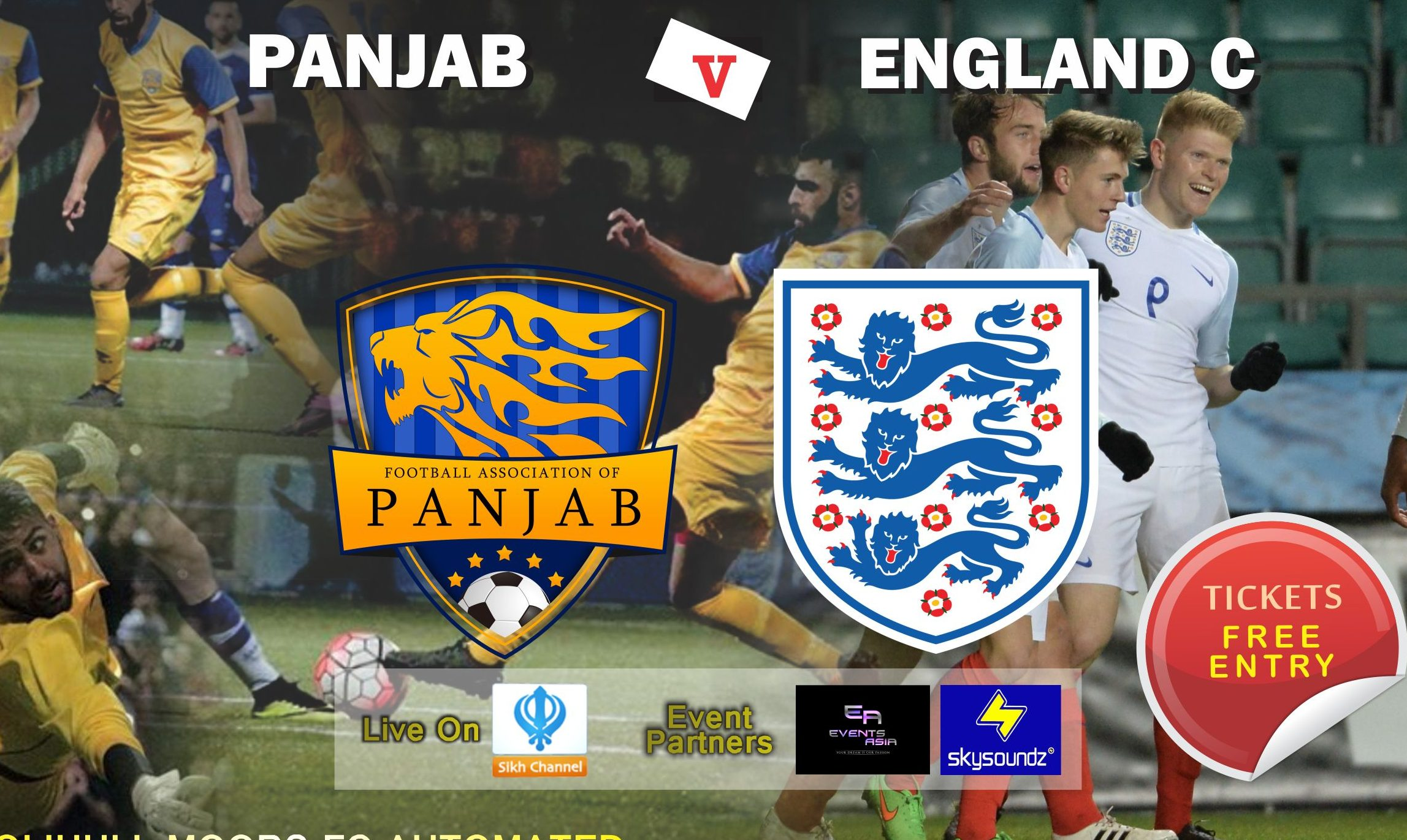 1st South Asian national team to play an England representative team